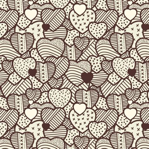vintage heart pattern hearts vintage pattern vector free download