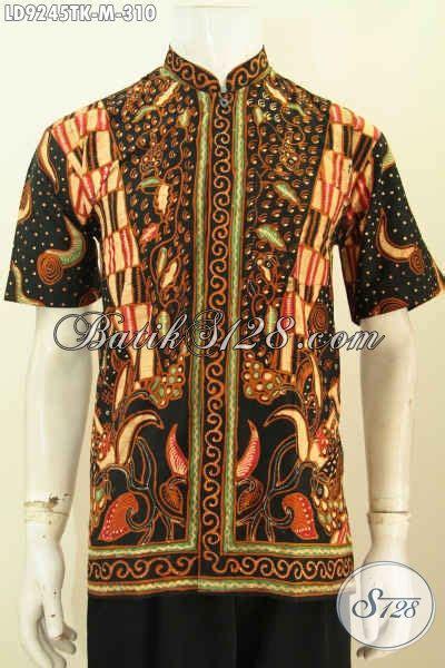 Hem Batik Shanghai hem batik tulis motif mewah 300 ribuan kemeja batik koko
