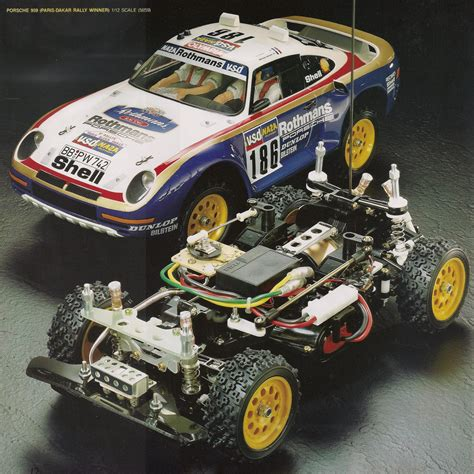 tamiya porsche 959 tamiya on road chassis porsche 959 and toyota celica