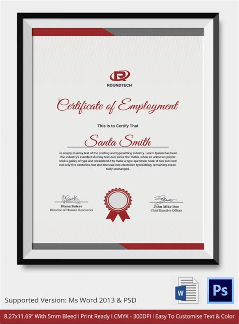 beautiful certificate templates sle certificate 32 documents in word pdf psd