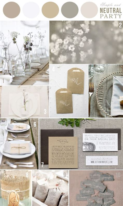 colors neutral palette wedding inspirations pinterest