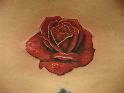 rose lower back tattoos lower back mike salay flickr