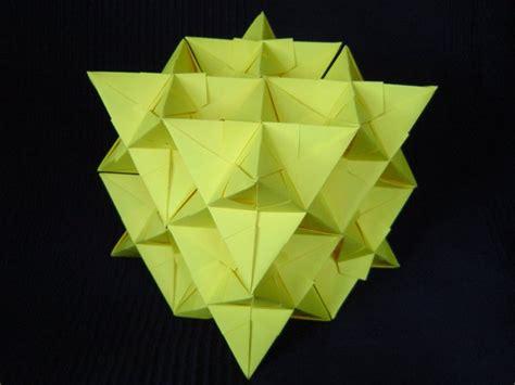 Origami Fractal - modular origami fractal models folded by micha蛯 kosmulski