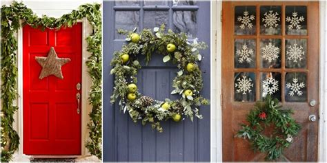 24 Christmas Door Decorating Ideas Best Decorations For How To Decorate Front Door