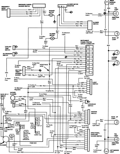 83 84 hazard exterior light wiring diagram ford