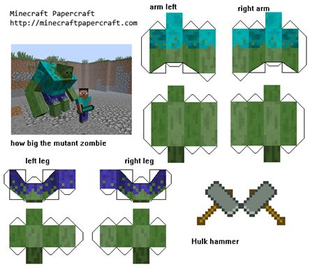 Minecraft Papercraft Animal Mobs - 3d paper crafts minecraft villager