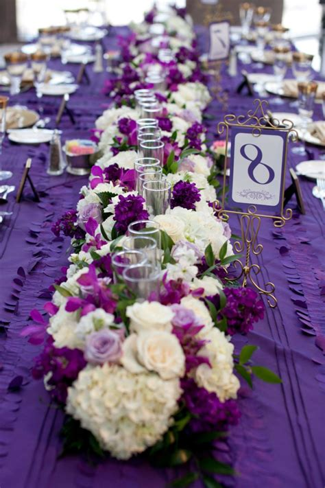 purple and white centerpieces for weddings purple wedding flower centerpieces bouquet idea