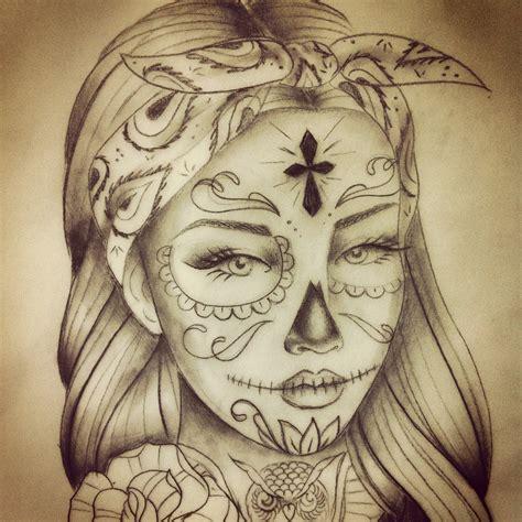 catrinas tattoo besaly santa muerte catrina tatuaggio santa