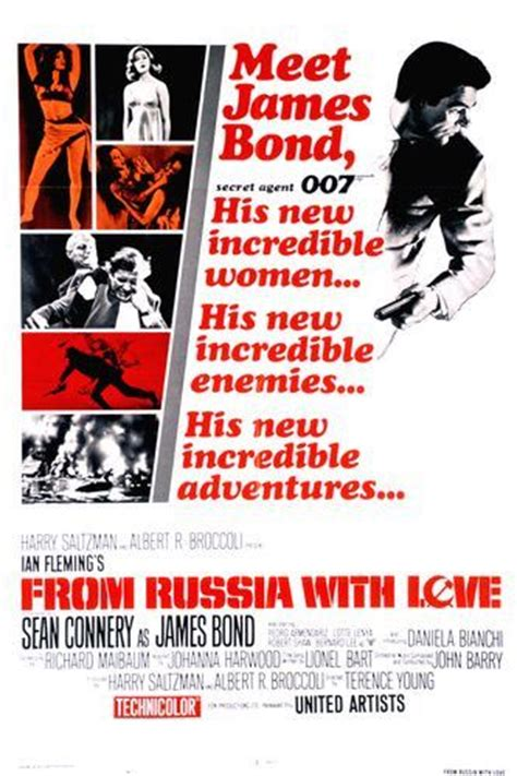 james bond from russia with love from russia with love poster