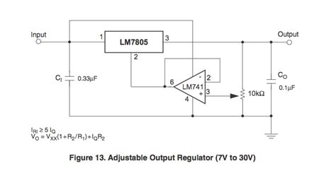 data sheet of 3 pin variable resistor lm78xx voltage regulators electrical engineering stack exchange