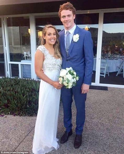 gary married the glamorous afl wedding between gary and amie rohan