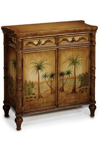 palm tree  door cabinet  shipping today