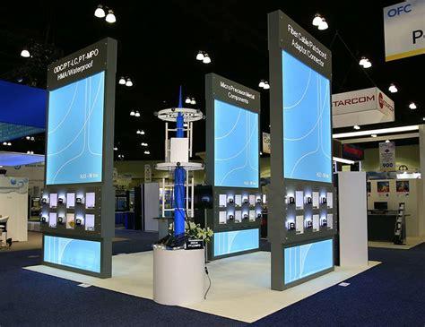 Trade Show Booth Design Los Angeles | 20x20 exhibition stand for hj3w ofc los angeles to