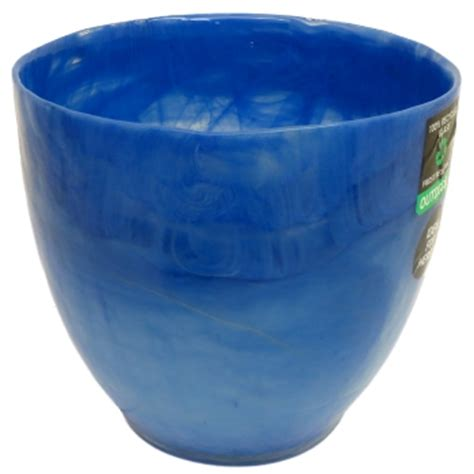 Blue Garden Pots White Grey Green Or Blue Glazed Glass Garden Plant Pot