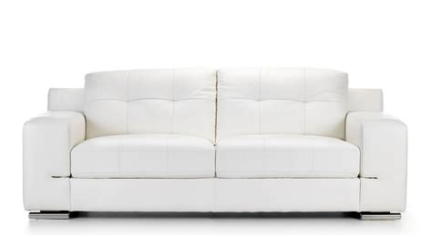 Modern Leather Sofas Uk Tate Leather 3 Seater Sofa White Modern Co Uk