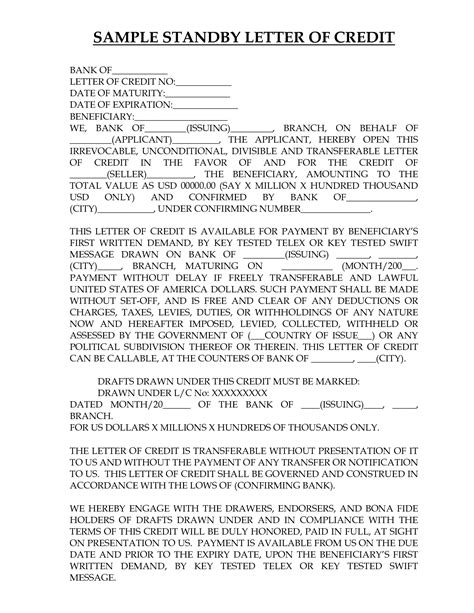 Standby Letter Of Credit Contract standby letter of credit applicant drureport437 web fc2