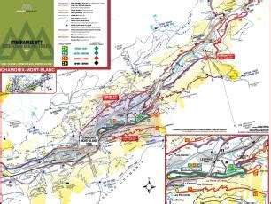 mountain bike, downhill maps and trails from the chamonix