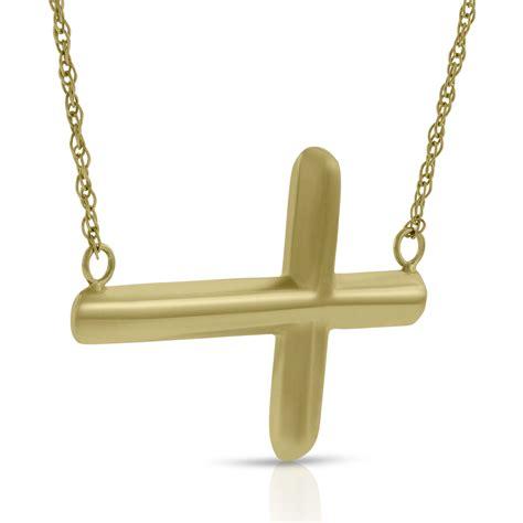 horizontal cross necklace 14k ben bridge jeweler