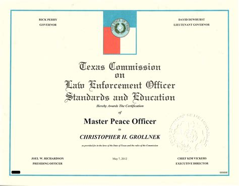Peace Officer License the arrival of master peace officer license chris