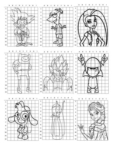 imagenes para dibujar en cuadricula ampliaci 243 n de dibujo con cuadr 237 cula