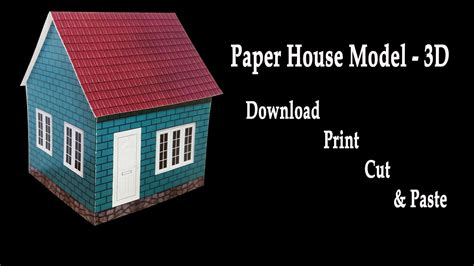 make a 3d house how to make a paper house 3d house model hd very easy