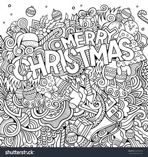 merry christmas hand lettering  doodles elements