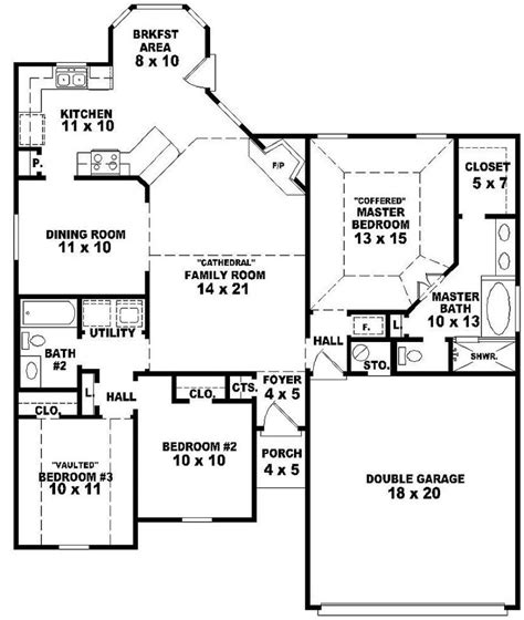 Superb 3 Bedroom House Plans One Story #2: Dd46d29d2224e2ee2542dc095cfd7e2f.jpg