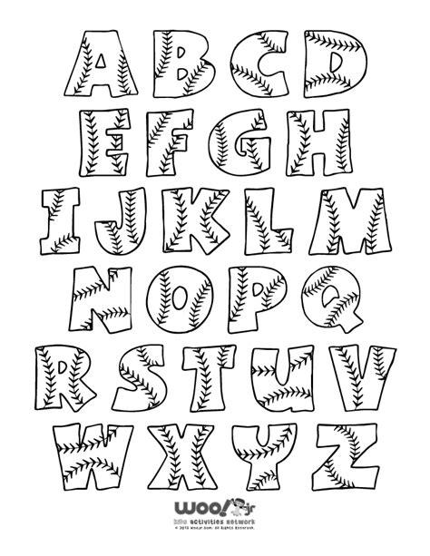printable alphabet set printable baseball alphabet letters baseball alphabet