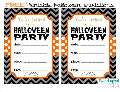 Printable Halloween Invitations | two magical moms free printable halloween invitations
