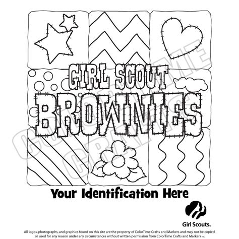 girl scout coloring sheets brownie girl scout basics