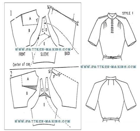 pattern making of sleeves drafting raglan sleeves pattern making com