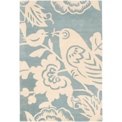 Rugs With Birds by Thomaspaul Ivory Bird Tufted New Zealand Wool Rug 3