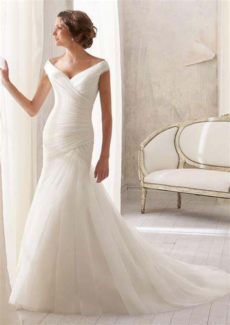 draped wedding dresses asymmetrically draped soft net wedding dress style 5210