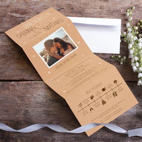 Foto Hochzeitseinladung by Hochzeitseinladung Vintage Letter Mit Foto Timeline