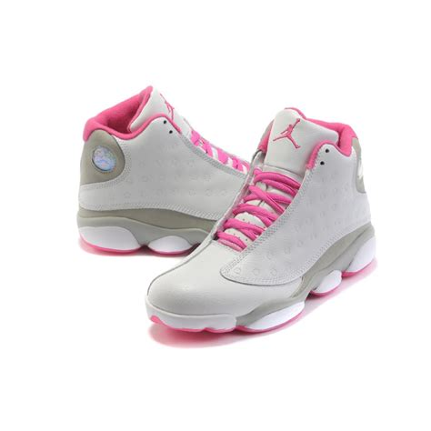 womens jordans shoes air 13 air sole high grey pink cheap jordans shoes