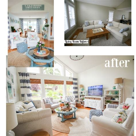 before the living room is rather long and narrow the fireplace our living room home style before and after the happy