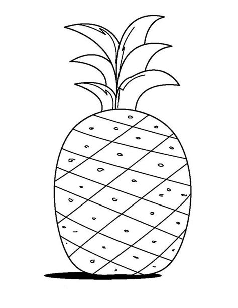 Pineapple Fruit Coloring Page Gianfreda Net Pineapple Coloring Page