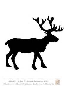 reindeer silhouette template reindeer silhouette template