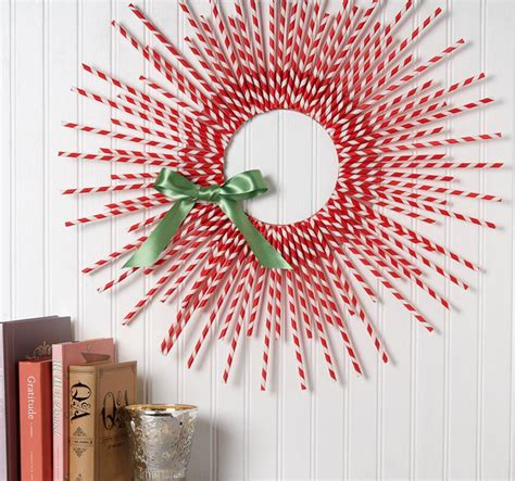 Paper Straw Craft Ideas - 12 diy wreath ideas for the season