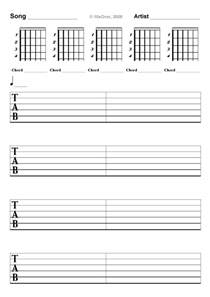 guitar tab template sheet templates to print 10xover s blogs