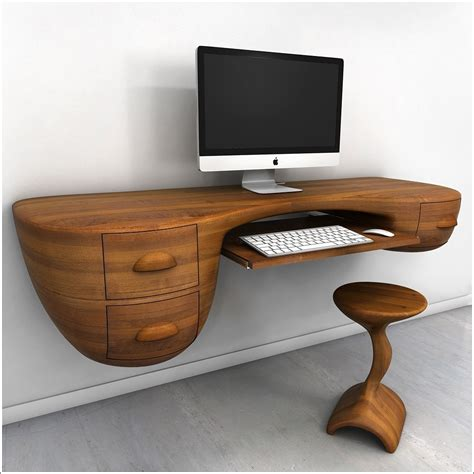 Designer Floating Desk by Innovative Desk Designs For Your Work Or Home Office