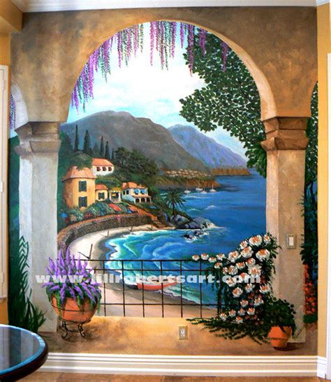 kitchen wall murals kitchen wall mural oceanside mediterranean san diego