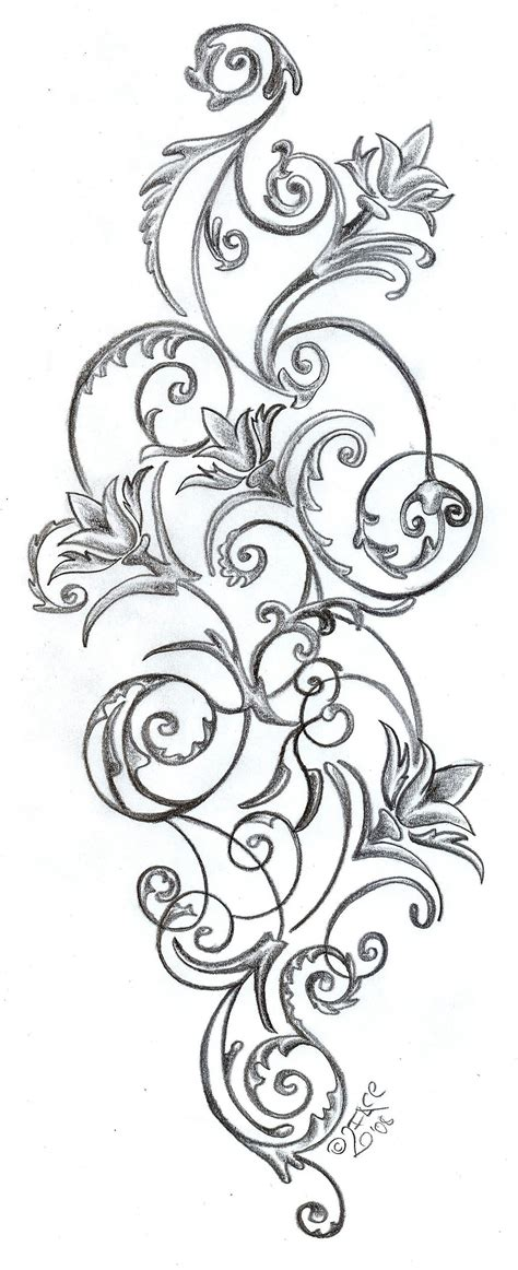 flower vine tattoo designs design flower best home decorating ideas