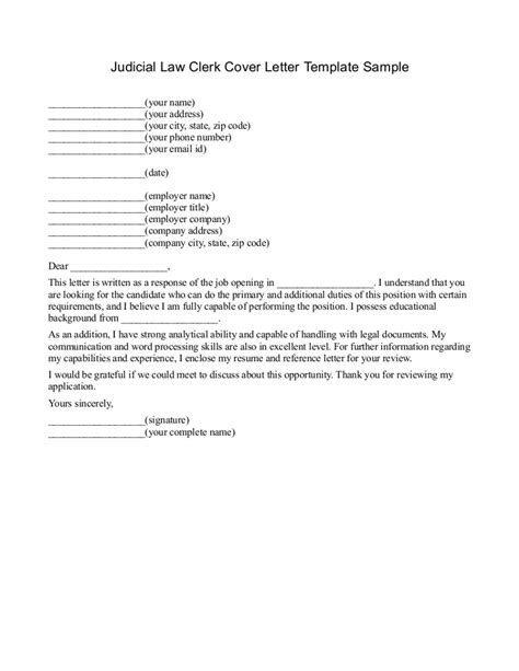 Cover Letter As An Attorney pie 187 cover letter of clerk technical report