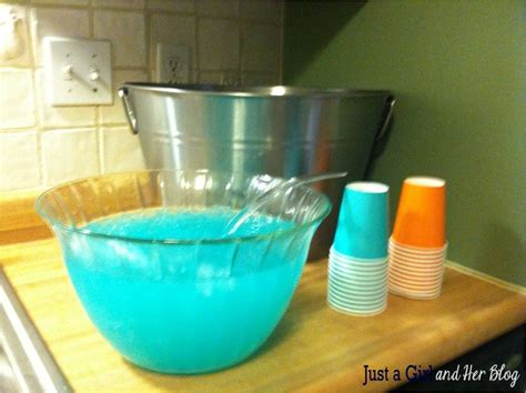 Blue Punch For A Baby Shower by Baby Blue Punch