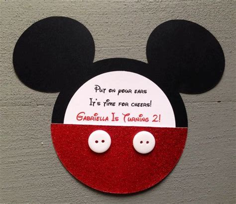 Handmade Mickey Mouse Invitations - 17 best images about handmade invitations on