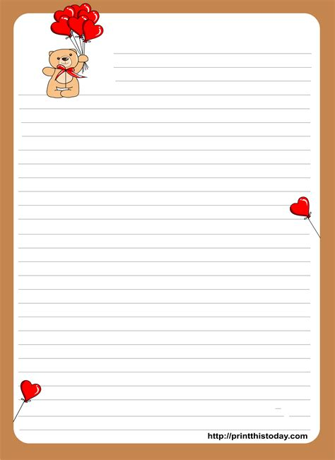 images printable love letter stationery