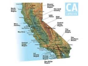 four regions of california map california s amazing 4 regions