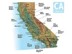 california mountain region map california s amazing 4 regions