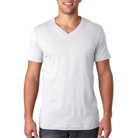 white v neck t shirt template canvas wholesale custom screen printed bulk